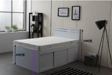 廠家直銷 全新 3尺/4尺/4尺半 雙人床 (1大斗+趙門) #B1-3672W(包送貨及安裝)