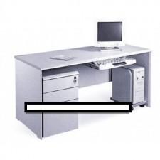 全新 高級寫字檯+活動三斗櫃桶+膠鍵盤架+活動主機架 ##C-AC012