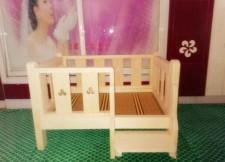 全新木制寵物床   (6個尺寸)  木色w2318