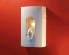 全新壁燈  (18.5*9.3*31.5CM)白色w1720