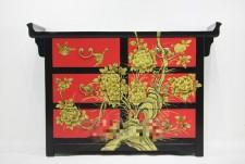 全新中式儲物櫃  (122*40*86CM) 紅色w2561