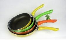 全新平底鍋(42*22*6CM)橙/黃/綠色w464