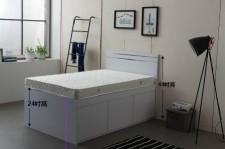 家直銷 全新 3尺/4尺/4尺半 雙人床 (3大斗) #B3-3672W(包送貨及安裝)