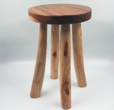 全新 印尼出產 雨木圓凳 (手工製造) YOG-197L