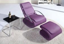 全新搖椅+腳踏  (64*90*105CM) 紫色w2507
