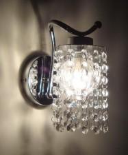 全新壁燈  (10*10*21CM)水晶色w1709