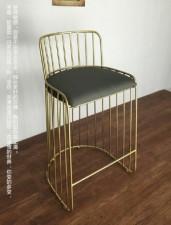 全新 吧椅 (53*52*74-95cm) 金色/白色 w5051