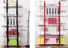 全新展示櫃自由組合(4、5層)(白、紅、黑、淺胡桃色)w018