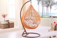 全新搖椅吊椅(105*105*195CM)橙色w622