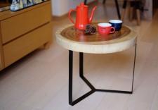 全新 印尼出產 雨木邊桌 (手工製造) YOG-465