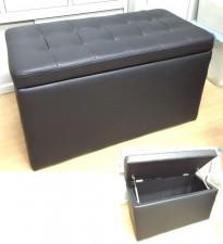全新儲物椅/腳踏  (33*16*19'')  LM01,有深啡色和黑色