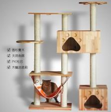 全新貓屋   (110*40*150CM)  木色w4953