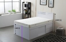 廠家直銷 全新 3尺/4尺/4尺半 雙人床 (2小斗+趙門) #B2-3672W(包送貨及安裝)