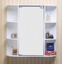 全新日式儲物櫃  (58.5*16*59CM) 白色w3532