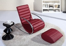 全新搖椅+腳踏  (55*60*105CM) 黑/白/紅色w2493