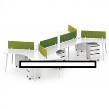 全新新款六人位寫字檯連屏風配活動柜##C-AC167