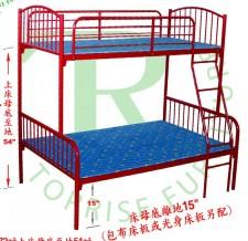 上下層床 藍/紅 (上2尺半下3尺, 上3尺下3尺半, 上3下4尺) #CH3436/CH3442/CH3448