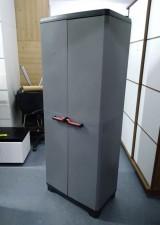 全新意大利進口戶外儲物櫃 - (STILO) 雙門高櫃 - 灰色 #9721000 0615