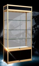 全新展示櫃  (80*30*200cm)黑/金色w2025