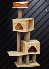 全新貓屋   (80*40*165CM)  木色w4955