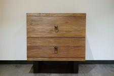 全新 印尼出產 再生木床頭櫃 (手工製造) NFR-22