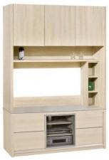廠家直銷 全新 新款 玻璃組合柜  60.3*16*80'' #HH-383-308+311 (包送貨及安裝)