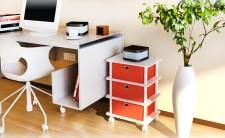 全新三層抽屜收納櫃(39.5*29.5*62.3cm)紅色+白色、綠色+白色、黑色+橙色、黑色+綠色 w075