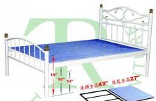 全新 2尺半/3尺/3尺半/4尺/4尺半/5尺 鐵床架 (#TR530 / TR536 / TR542 / TR548 / TR554 / TR560)