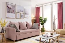 三坐位布藝梳化床 2200W×850D×800H#6001
