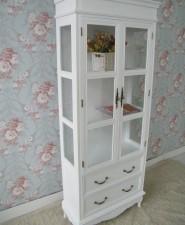 全新歐式白色玻璃櫃(70*30*172CM)白色 w830